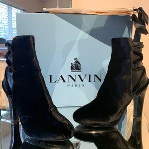Lanvin Velvet Booties